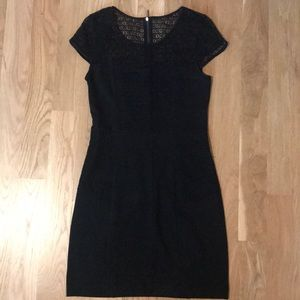 Kensie black lace and jersey LBD size S
